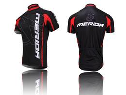 Wholesale Merida Cycling Tops - Wholesale-Popular Merida Cycling Jersey Racing Mountain Bike Short Sleeve Clothing Top Shirt Bicycle Sportwear Jersey CD0810