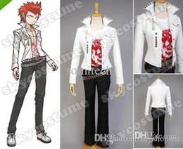 Wholesale Costumes Arabic - Wholesale-Danganronpa Dangan-Ronpa Leon Kuwata Cosplay Costume set arabic garments big size free shipping