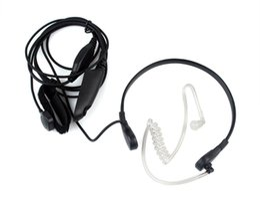 Wholesale Covert Radio Earpiece - 6 Pin PTT Throat MIC Covert Acoustic Tube Earpiece for Motorola Radio HT750 GP328 GP329 PRO5150 Black C0010A Alishow