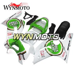 Wholesale Zx6r Frame - Green White Full Fairings For Kawasaki ZX-6R 636 2003-2004 03 04 Injection ABS Plastics Hull Covers Motorbike ZX6R Frames Bodywork Panels