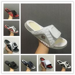 Wholesale Basketball Sandals - Wholesale new Air Retro 13 slippers 13s Blue black white red sandals Hydro Slides basketball shoes casual running sneakers size 7-13