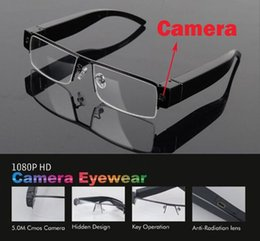 Wholesale Glass Spy Camera - Fashion 1080P full HD Hidden audio video recorder spy camera eyewear V13 glasses hidden camera video sunglasses mini camera free shipping