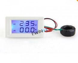 Wholesale Display Digital Ac - New and high quality AC 80-300V 50A Dual Display LCD Panel Meter Digital Voltmeter Ammeter AMP Volt 100pcs