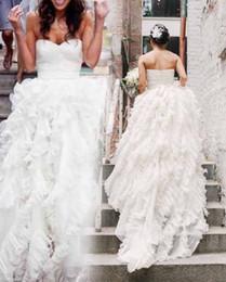 2019 robe de bal populaire Plus populaire robe de bal chérie pli ruché robes de mariée en organza robe de bal Empire Tiers-parole longueur robe de mariée robe de mariage robe de bal populaire pas cher