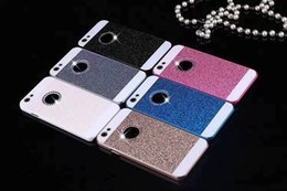 Wholesale Diamond Iphone 4s Cases - Diamond Glitter PC Hard Case for Iphone 7 I7 6 plus 6S 5.5 4.7 I6S I6 4 4S SE 5 5S Shiny Bling Gold Hole Ring Cell Phone Skin Cover Luxury