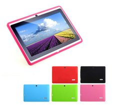 Wholesale Case For Allwinner A13 - Multi-color Soft Silicone Protective Back Cover Case for 7 inch Q88 Allwinner A13 Android Tablet PC Free Shipping
