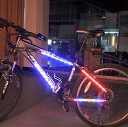 Wholesale Banners Lighted - Bicycle Spoke LED Strobe decorative frame Colorful lights warning lights dead coaster ride bicycles banners light equipment