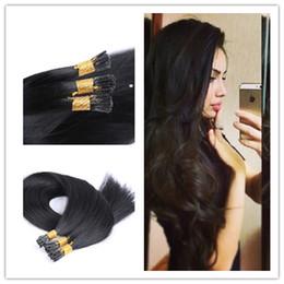 Wholesale Stick Virgin Hair - 300g Bundle Human Weave Unprocessed Wavy Brazilian Virgin Hair Straight hair Stick I Tip Hair Extension