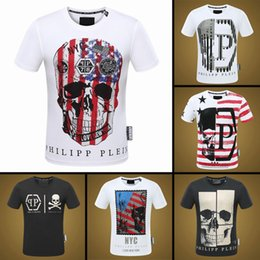 Wholesale Man Famous T Shirt - 2018 Men T shirt High Quality crystal T-Shirts 100% Cotton Summer Tops Short Sleeve Tees Man with famous brand print