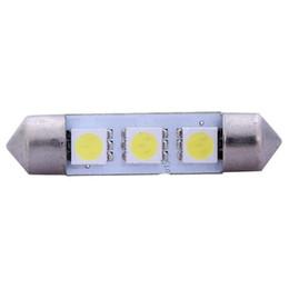 Nuovo Trasporto Libero 10 x Bianco 31/36/39 / 41MM 3 LED 5050 SMD Festoon Dome Car Light Lampadina per Interni 12V LLCA0008 da luce blu per le piante ha condotto fornitori