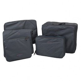 Wholesale Wire Cubes - Wholesale- Multi-Functional Portable Travel Luggage Suitcase Clothes 5pcs set Underwear Packing Cubes Organizer container Storage Bag Pouch