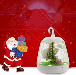 Wholesale Plant Sensor - Christmas Night Light Decoration Voice Control Festival Party Gift LED Charge Sensor Table Lamp Christmas Tree With Plants CCA8193 30pcs
