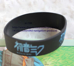 Wholesale Popular Silicone Wristbands - Free shipping 120 pcs New Design Hatsune Miku Wristbands Silicone Bracelets for collection Multicolor Popular Gift Wholesale
