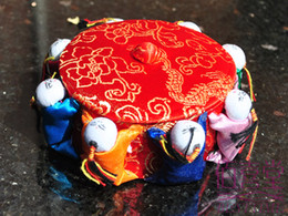 Wholesale Handmade Decoration Pieces - Chinese Silk Brocade Wedding Candy box Handmade Sewing Storage Case Home Decorations Crafts