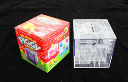 Wholesale Maze Piggy Bank - [New arrival] [Hot sale] The maze of piggy bank Transparent crystal maze money box Classic lovely thing