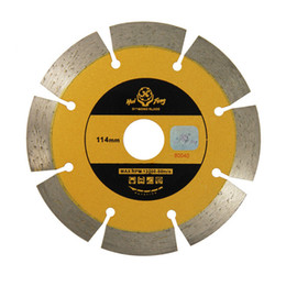 Wholesale Diamond Blade Stone - 114mm Metal Alloy Circular Dry Segmented Stone Tile Diamond Blade Saws Cutting Ceramic Tile Cement Tools