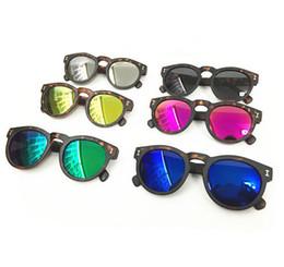 Wholesale Leopard Top Boys - New Fashion Children Sunglasses Kids Girls Boys Leopard Print Sunglass UV Protection Summer Beach Travel Eyewear Top Quality DCBF207