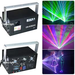 Wholesale Dj Laser Light 3d - Wholesale- Chrismas new model 5w rgb laser 3D ILDA DMX Stage light DJ lighting Dance club Show disco Party Light