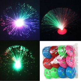Wholesale Order Led Decor - Gift Color Changing LED Fiber Optic Night Light Lamp Colorful Stand Home Decor L0192628 order<$18no tracking