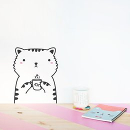 Wholesale Kids Rooms Themes - 2017 Minimalism Nordic Cute Animal Theme DIY Wall Sticker For Kids Room Wallpaper Living Rooms Kindergarten Home Decor Stickers