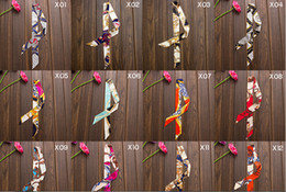 Wholesale Belt Woman H - Wholesale-Women Ladies 20pcs lot Fashion Brand Mulberry H Belt Handbag Scarf Silk Twilly Scarves Cheap Silk Satin Wholesale Free Shipping