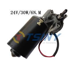 Wholesale Door Motor - 12~24Vdc Garage door motor Low speed High Torque 30W Worm Gear Reducer Electric Motor,6N. M Barbecue Grill motor