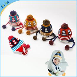 Wholesale Kids Funny Winter Hat - Children Beanies Animal Design Crochet Baby Hat Handmade Knitted Kids Funny Winter Hat EarFlap Cap Winter Hat MZ21031