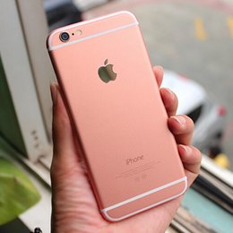 Wholesale Iphone Golden Cover - 2015 Newest Luxury Rose Pink Violet champagne Gold Skin Back Cover Golden Sticker Full Body Screen Protector Film for Iphone 6 6S plus