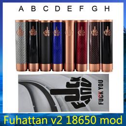 Wholesale New Carbon Fiber Battery - 2015 new Carbon Fiber fuhattan v2 mod Vape Mechanical Mod Fuhattan fit 18650 battery 510 Atomizer vs kbox 40w MVP Osmium mod DHL 0207384 -5