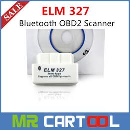 Wholesale Scanner Cable Obd2 - 2015 Top quality Mini ELM327 Bluetooth V1.5 OBD2 elm327 Scanner white better than elm327 v2.1 Free shipping