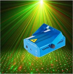 Wholesale Led Mini Voice Activated Light - Mini LED Laser Projector Red and Green Laser Stage Light Laser Lighting For Disco Party DJ Bar Club