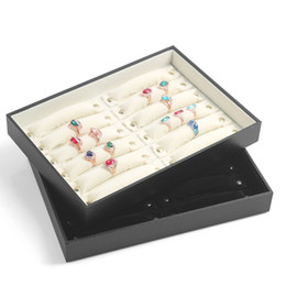 Wholesale Jewellery Display Ring Stands - Ring Tray Sponge Ring Jewelry Holder Jewelry Packaging Display Stand Button Detachable Ring Stick Ring Jewellery Boxes Gift Box Organza