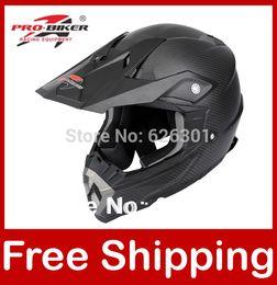 Wholesale Helmet Motorcycle Xs - Wholesale-Motocross Helmet Black Carbon Fiber Dirt bike Off road Motorcycle Helmet Full face Black XS S M L XL XXL HX-Helmets H601