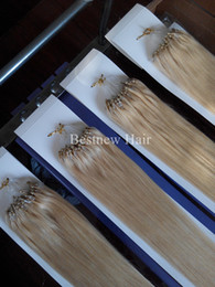 "Wholesale Hair Extension Micro Bead 613 - 100g 20""22"" Micro Ring Loop Beads Remy Human Hair Extensions 100s #613 Bleach Blond Free Shipping By DHL"