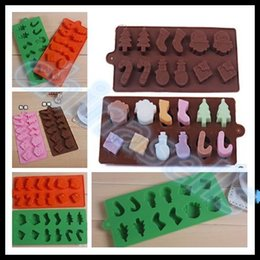 Wholesale Ice Box Cake - hot Food-grade Silicone Snowman Christmas Decoration Ice Cube Ice Box Chocolate Molds Jelly cup Mold Candy Cake Mould Bakeware