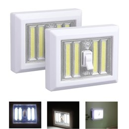Wholesale Mouse Mount - Portable Led Night light Battery Operated 4 COB LED Panels Cordless Switch Light Wireless Tap Light Mount in Bedroom Closets Cabinet Shelf