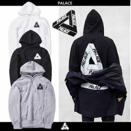 Wholesale Black Long Shirt - Lovers Men's Triangle Printed Hoodies PALACE Sweatshirts Causal Hip Hop Cool Brand Designer Men Jesus Angel Cotton Hoodie Shirts