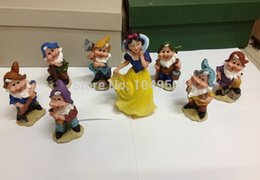 Wholesale Snow White Seven Dwarfs - Home adornment furnishing articles Resin Snow white and the Seven Dwarfs 8pcs set Wedding Creative Gift Home decorations toy
