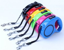 Wholesale Dog Retractable Leash 5m - 2017 All Seasons Nylon Material Push-button Pet Automatic Retractable Leashes Dog and Cat Are Suitable for Traction Rope 3M 5M 3color