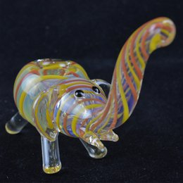Wholesale Animal Burner - 5'' Inch Oil Pipes for Smoking Portable Elephant Shape Hand Spoon Pipes Heady Glass Handy Animal Tobacco Pipe Oil Burner Smoking Pipes