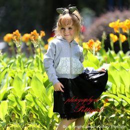 Wholesale Children Wearing Mini Skirts - Pettigirl Hot Sale Girls 2pcs Casual Clothing Sets Fashion Sweatshirt And Mini Skirt Wholesale Children Wear CS80813-80F