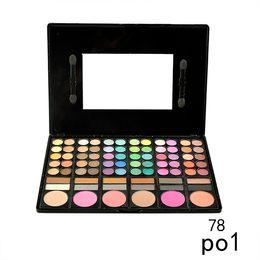 Wholesale Eyeshadow Makeup Palette 78 - Cosmetic 78 Colors Eyeshadow Palette Earth Color Nude Smoky Shimmer Matte Eyeshadow Palette Eye Shadow Makeup Powder Palette 0605030