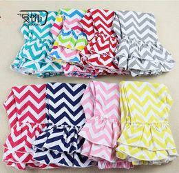 Wholesale Little Summer Girls Leggings - Little Girls Chevon Ruffled Pants Long Pants Panties Girls Trousers Leggings Baby panty crawlers 1-8T