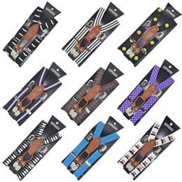 Toddler Kids Baby Boys Girls Enfant 4clips Suspender Child Suspenders Elastic Solid Color Lepoards Patterns de pain de zèbre à partir de fabricateur