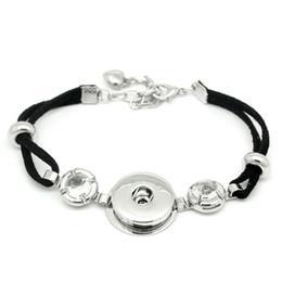 Wholesale Metal Snap Press - Vintage Snaps Bracelets Jewelry Silver Color 18mm Press Metal Ginger Snap Buttons Bracelet Bangle DIY Jewellery Wholesale