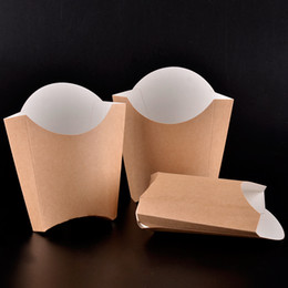 Wholesale Wholesale Wings Chicken - Fashion Kraft Paper French Fries Cup Disposable Fried Chicken Wings Popcorn Box Cup Party Dessert Container 100pcs lot SK727