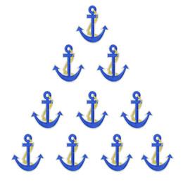 Patches d'ancrage en Ligne-10 PCS Anchor Sea Badge Broderie Patches pour Vêtements Fer sur Transfert Appliques Patches pour Vêtement Jeans Bricolage Coudre sur Broderie Badge