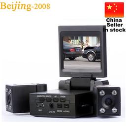 Ciclismo de china online-Nuevo Dual Two Lens Auto-recording Cycling Car DVR Cam Recorder Visión Nocturna Cámara del vehículo Video 010224