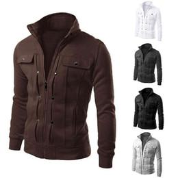 Wholesale Men S Large Jackets - Fall-3 Large Size 5 Colors Warm Outdoor Winter Jacket Men jackets Hood Sport men's sportswear men hoodie sweatshirt