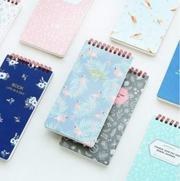 Wholesale Mini Spiral Notebooks Wholesale - Wholesale- 1 Pcs Mini Vintage Flower And Animal Spiral Notepad Notebooks Memo Diary Book Stationery Office Accessories School Supplies 6188